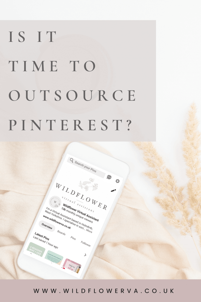 "Pin image for ""3 Signs you Need to Outsource your Pinterest Management"""