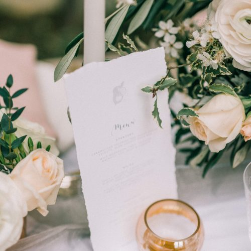 Pinterest for Wedding Businesses - Menu Card