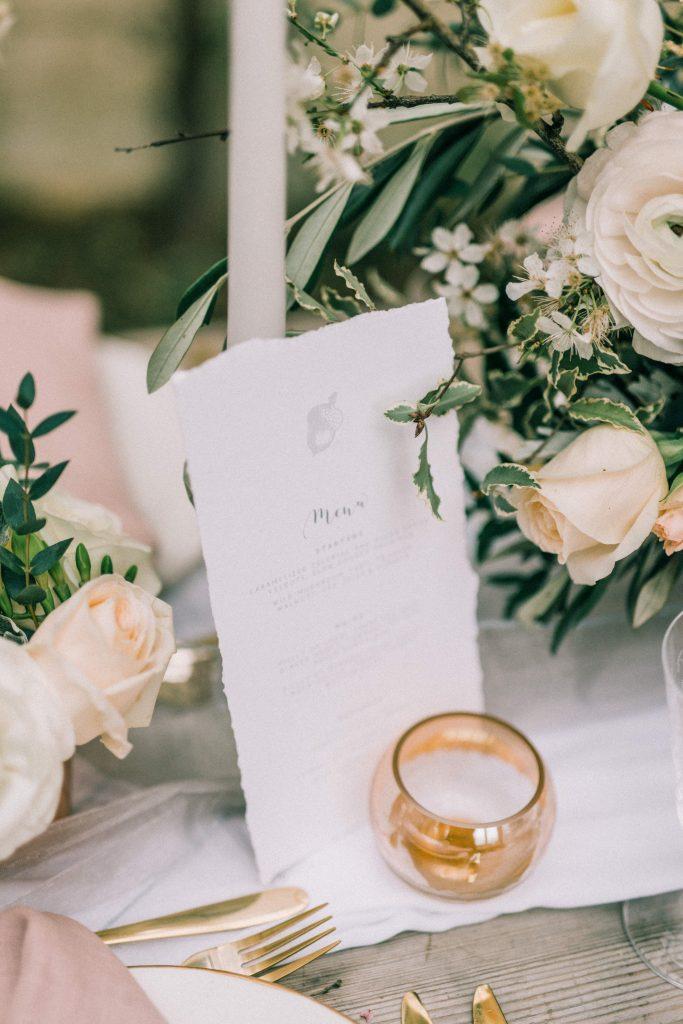 Pinterest for Wedding Businesses - Menu Card