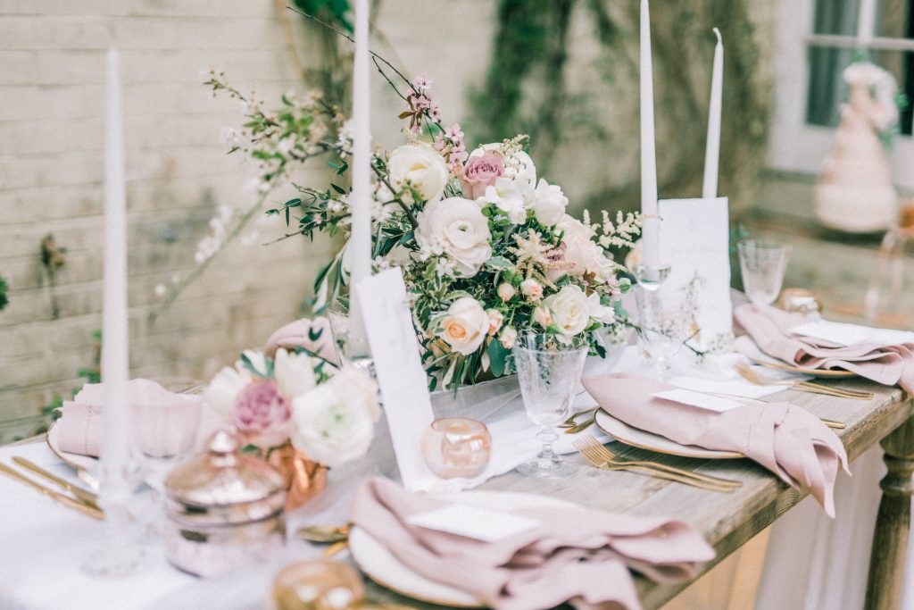 Pinterest for Wedding Businesses - Floral Wedding Reception tablescape