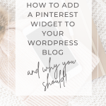 How to add a Pinterest widget to your WordPress blog - Wildflower Pinterest Management