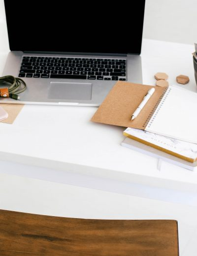 Bloggers Desk Scene - Laptop and Notebooks - 6 Reasons Why You Should Start a Blog Post