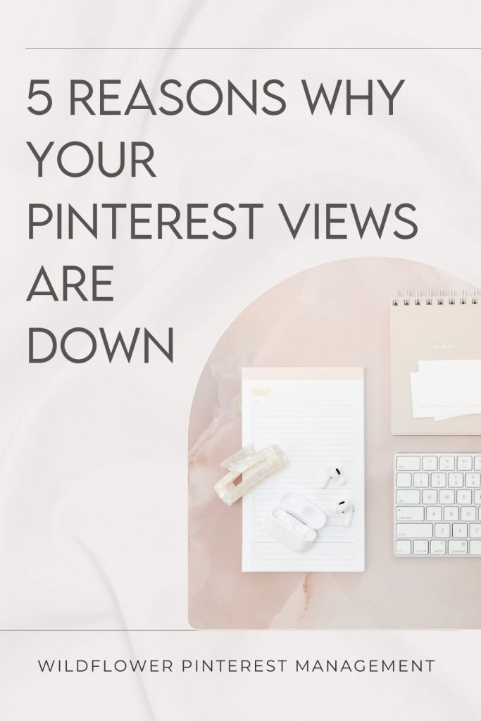 Promo image for 5 Reasons Why Your Pinterest Views are declining, and How to Fix It