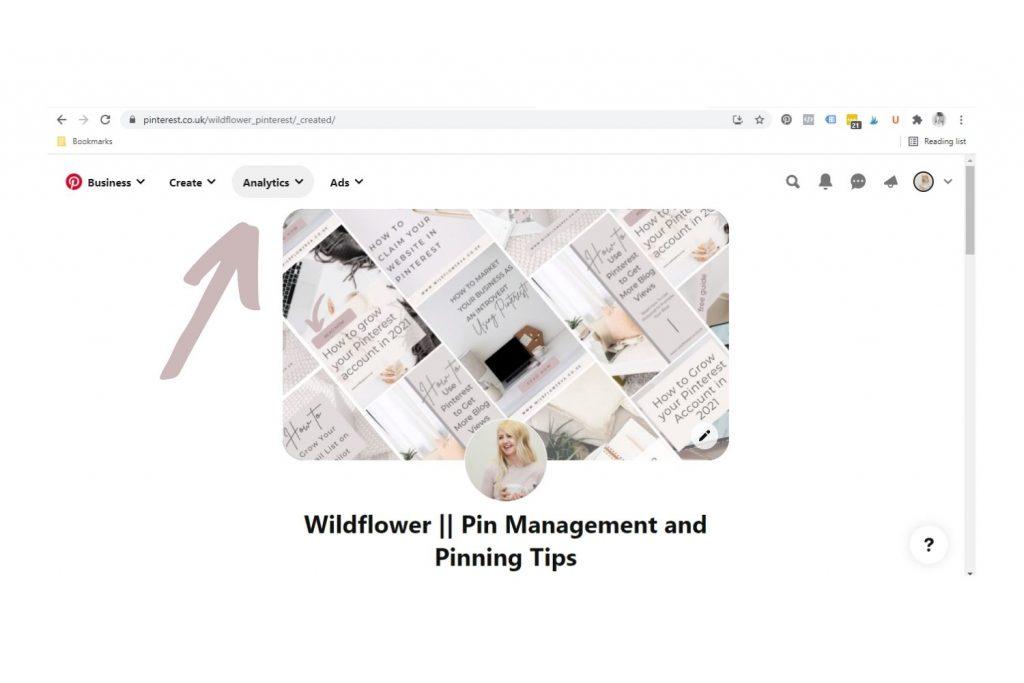 How to access Pinterest analytics - Wildflower Pinterest Management